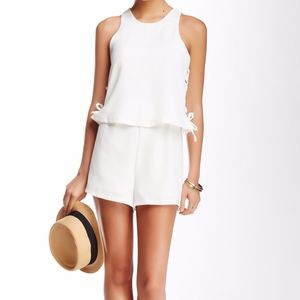 Romeo & Juliet Couture Lace-Up Romper NWT